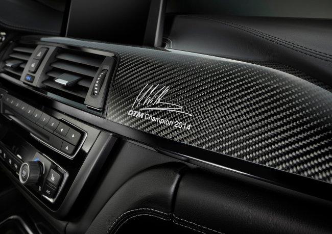 Карбоновая панель BMW M4 DTM Champion Edition F82 с автографом