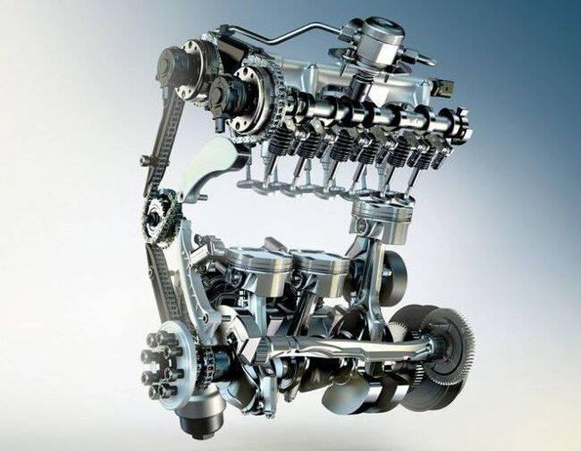 Фото двигателя BMW B38 с технологией нового поколения