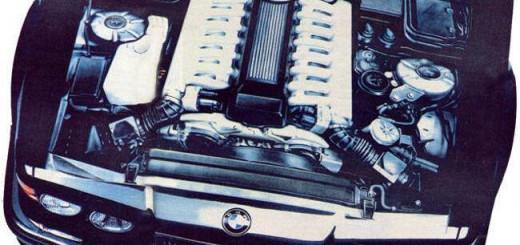 Фото двигателя BMW Goldfish V16 под капотом E32