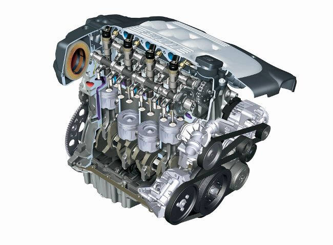 Фото двигателя BMW M47 в разрезе