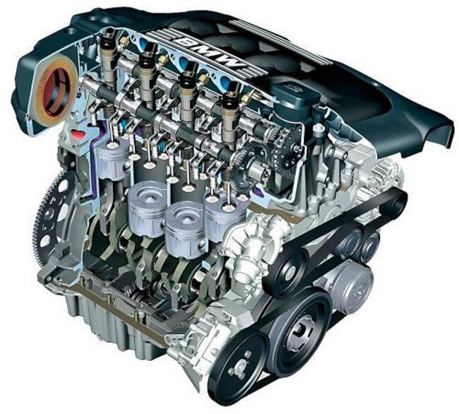 Фото двигателя BMW M47 D20 в разрезе