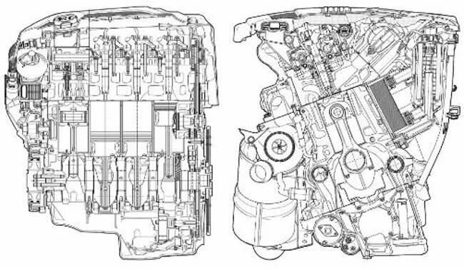 Фото двигателя BMW N47 - чертеж