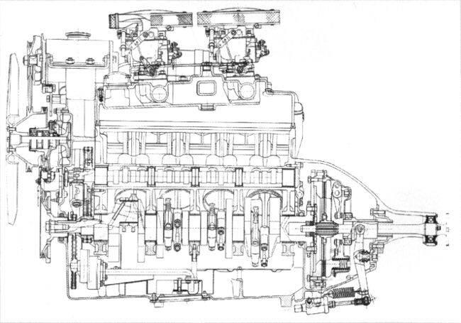Фото двигателя BMW OHV V8 - 3-2-литра