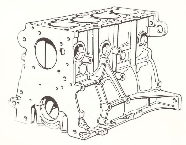 Блок цилиндра M40