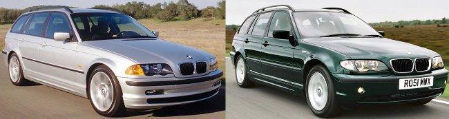 Обновление BMW 3 Series E46 Touring - вид спереди