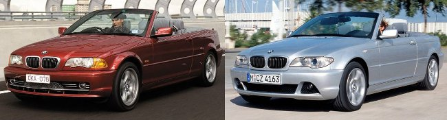 Рестайлинг БМВ 3 Серии Е46 Кабрио - вид спереди