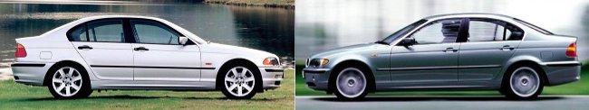 Рестайлинг BMW 3 Series E46 Sedan - вид сбоку