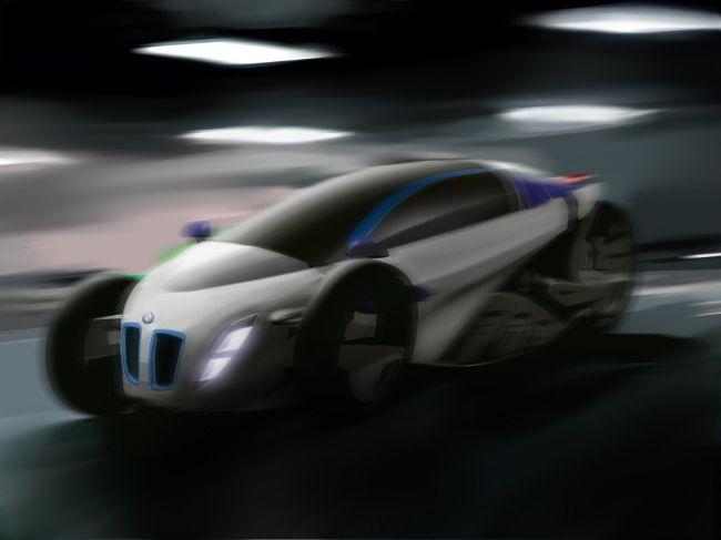 Динамичный BMW i1 - виртуальный проект