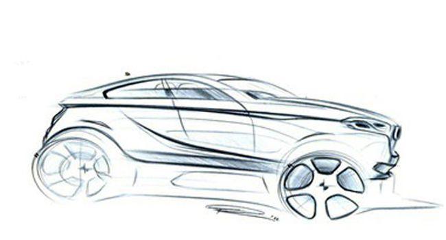Рисунок предполагаемой внешности BMW X2