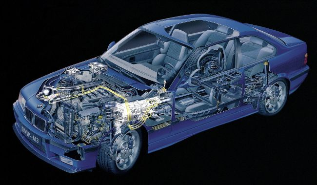 BMW M3 E36 Coupe в разрезе