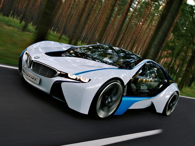 BMW Vision Efficientdynamics Concept стал первым шагом к созданию i8