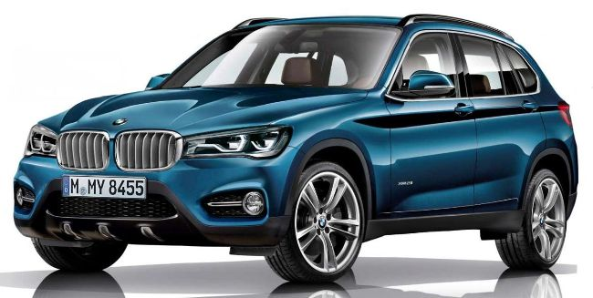 BMW X1 F48 2016 года - приблизительно такой внешности стоит ожидать от нового кроссовера