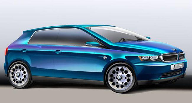 Concept BMW i5 с помощью фотошопа