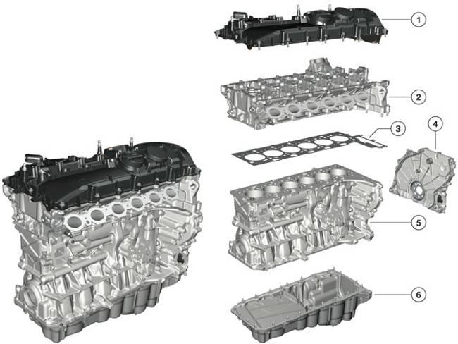 Двигатель B58 в разборе