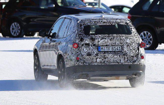 Шпионсике фото BMW X3 G01 модельного ряда 2017 года