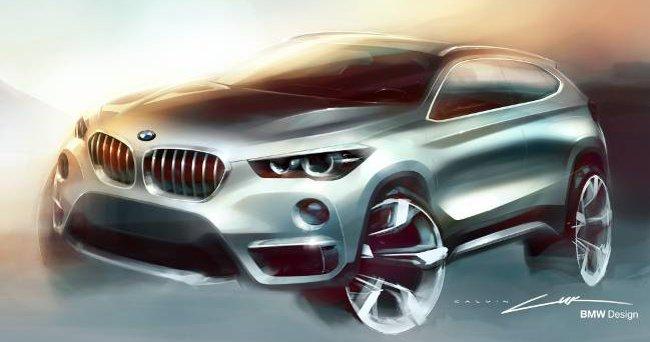 Дизайнерский рисунок BMW X1 F48