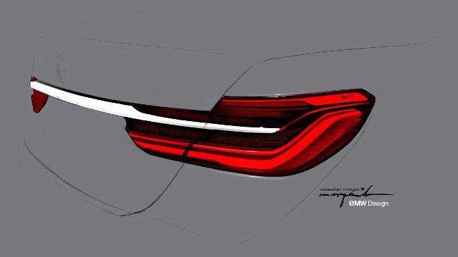 Задняя оптика BMW G11 7 Series - рисунок