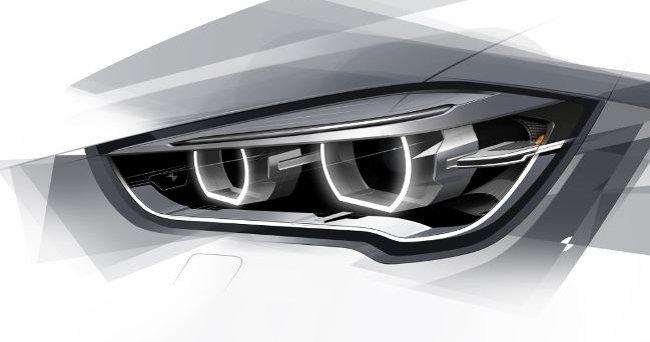 Рисунок передней оптики BMW X1 F48