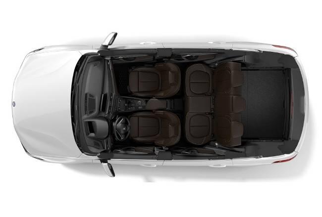 Салон и багажник в БМВ Х1 Ф48 - вид сверху