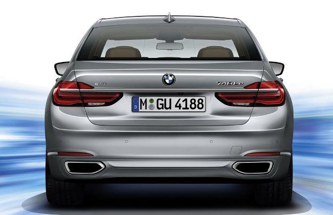 BMW 740Le eDrive G12 - вид сзади