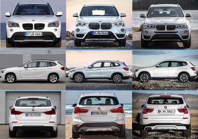 BMW X1 E84 vs F48 vs X3 F25 LCI