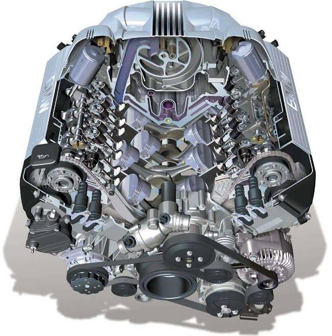 Двигатель BMW N62 в разрезе - 645Ci
