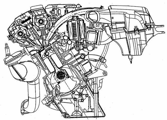 Поперечный разрез двигателя BMW M52 - фото 1