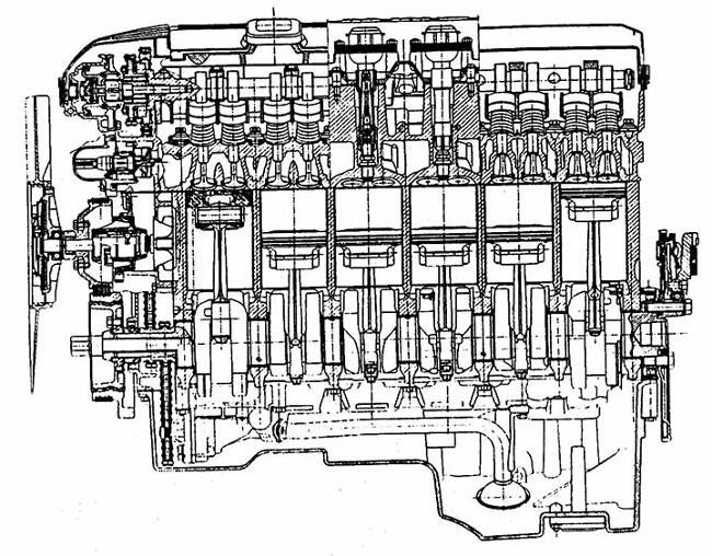 Продольный разрез мотора BMW М52 - фото 2