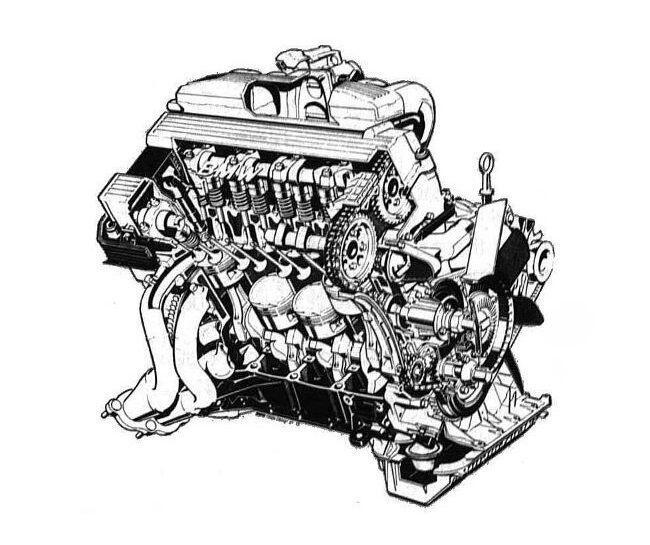Фото двигателя BMW М42 - Общий-вид-мотора