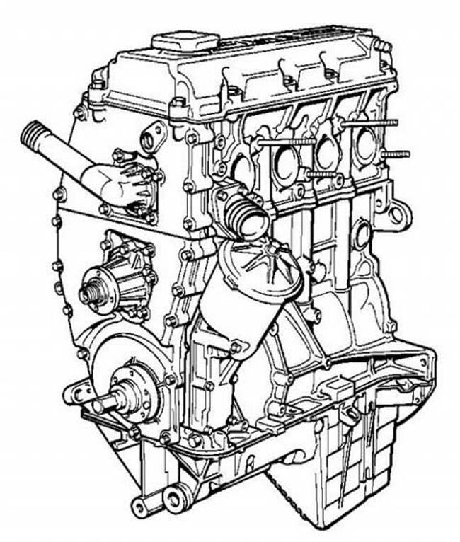Фото двигателя BMW М42 - рисунок