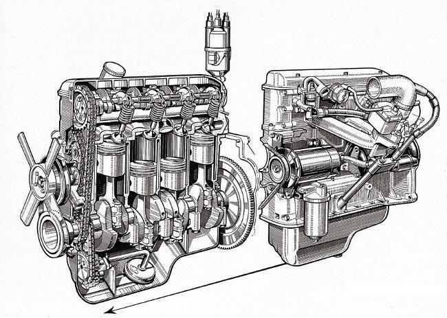 Фото двигателя BMW M10 - разрез