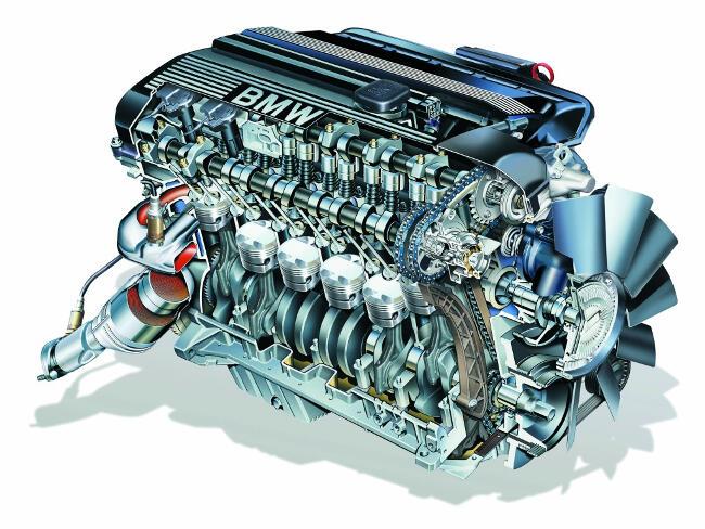 Фото двигателя BMW M54 от E46 в разрезе