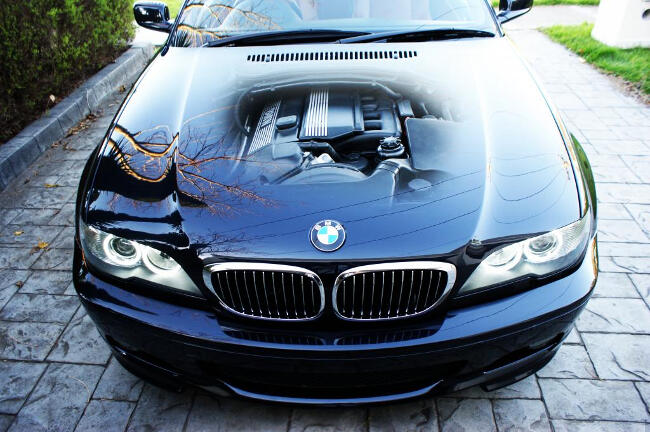 Фото двигателя BMW M56 под капотом E46