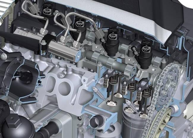 Фото двигателя BMW N47 в разрезе
