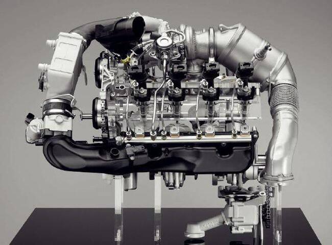 Фото двигателя BMW N63 - на стенде