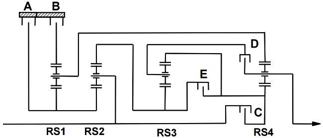 Схемы передачи 8HP45