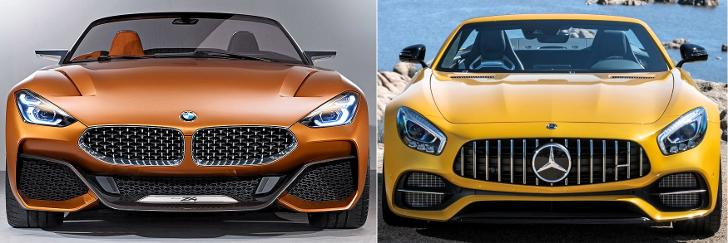 BMW Z4 Concept G29 vs Mercedes AMG GT - front