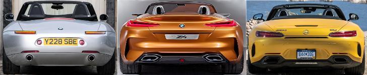 BMW Z8 vs Z4 Concept G29 vs Mercedes AMG GT