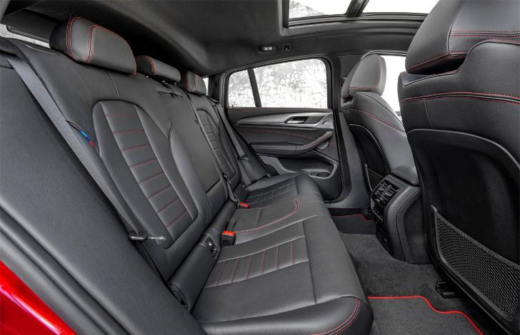 Задняя часть салона BMW X4 G02