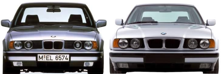 BMW E34 отличия - Дорестайлинг vs Рестайлинг