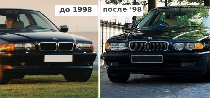 BMW E38 - 1994-98 vs 1998-2001