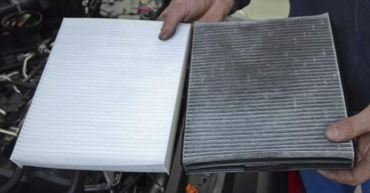 Сравнение чистого и забитого фильтра