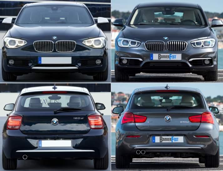 BMW F20 1 серии - до и после рестайлинга